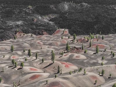 Cinder Cone Crater, Lassen Volcanic National Park, CA