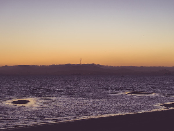 Robert W. Crown Memorial State Beach, Alameda, CA, Super Blood Moon, San Francisco Bay Area, Sutro Tower