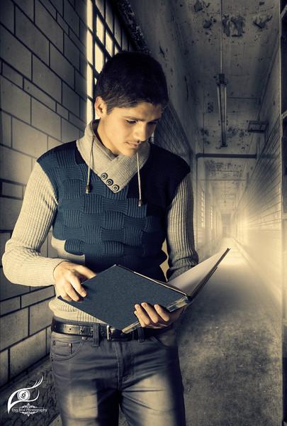 high school boy inside hallway