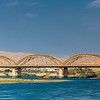 Old Bridge Renovated recently on the Dijla river in Iraq