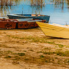 Old boats in Iraqi seaside in Kurdistan region