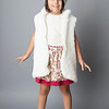 Fashion Style of Small girl isolated inside studio