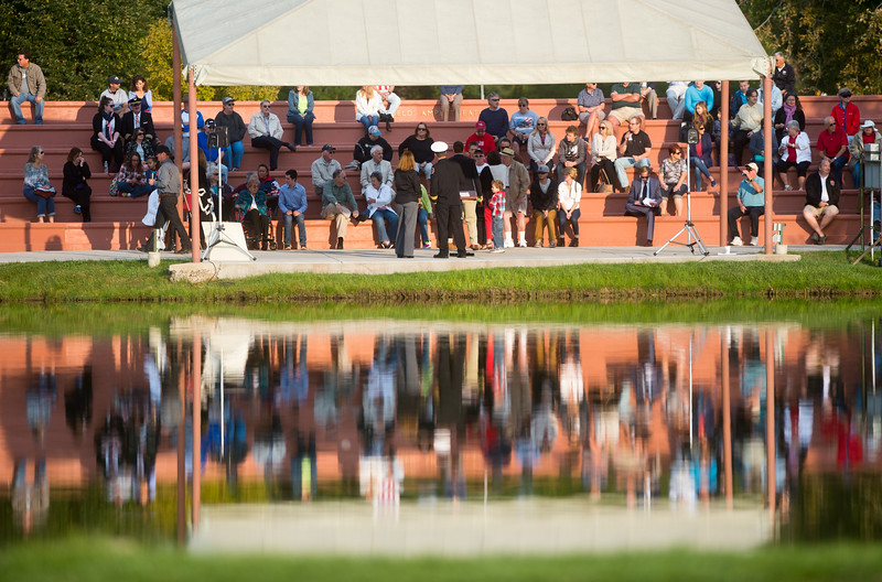 """Attendees gather at the Broomfield Amphitheater for a 9/11 memorial ceremony on Sunday. <br /> More photos:  <a href=""""http://www.dailycamera.com"""">http://www.dailycamera.com</a><br /> (Autumn Parry/Staff Photographer)<br /> September 11, 2016"""