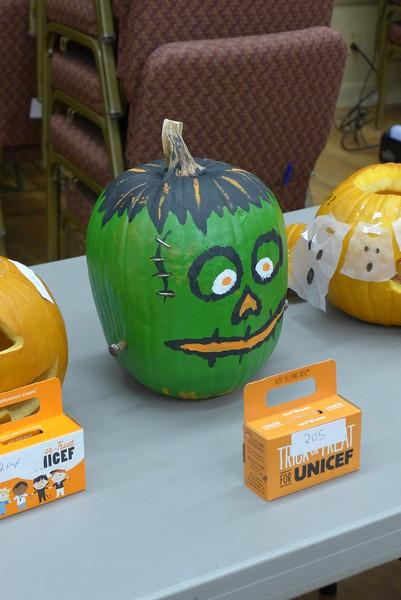 The prize-winning pumpkin design (2nd)