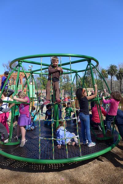 A MERRY-GO-ROUND!!!!!!  Best playground ever!