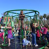 A MERRY-GO-ROUND!!!!!!  Best playground ever!