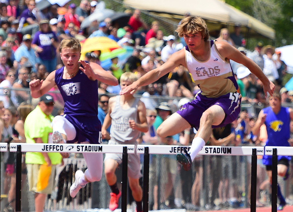 . Fred Turner, of Eads, wins the 300 meter hurdles during the Colorado State Track and Field Championships on Saturday at Jeffco Stadium. For more photos, go to www.bocopreps.com. Cliff Grassmick  Staff Photographer  May 21, 2016