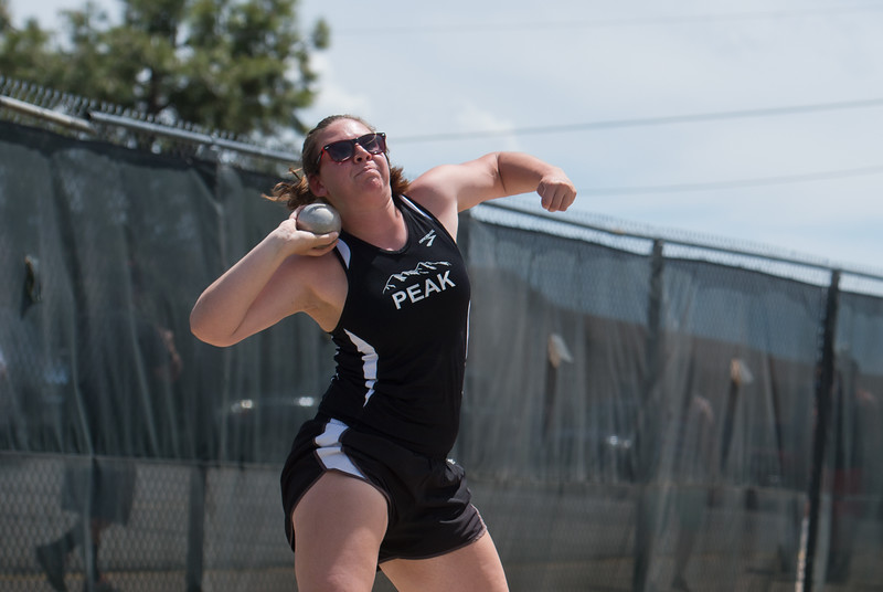 "Peak to Peak Charter School's Tessa Anderson finished second place in the girls 3A shot put during the Track and Field State Championships at Jefferson County Stadium in Lakewood on Saturday.<br /> More photos:  <a href=""http://www.BoCoPreps.com"">http://www.BoCoPreps.com</a> <br /> Autumn Parry/Staff Photographer<br /> May 21, 2016"