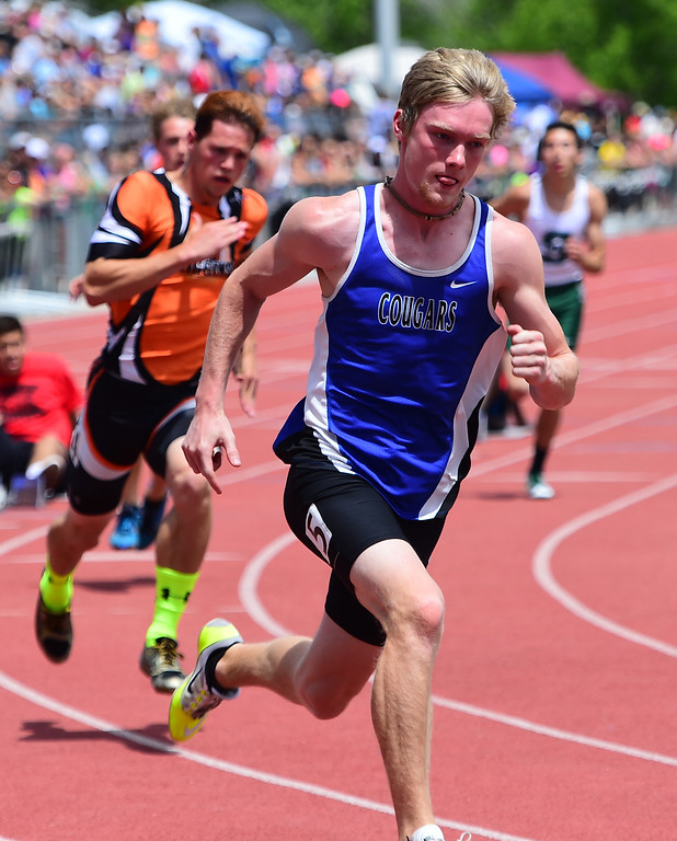 . Evan Anderson, of Resurrection Christian, wins the 400 meters during the Colorado State Track and Field Championships on Saturday at Jeffco Stadium. For more photos, go to www.bocopreps.com. Cliff Grassmick  Staff Photographer  May 21, 2016