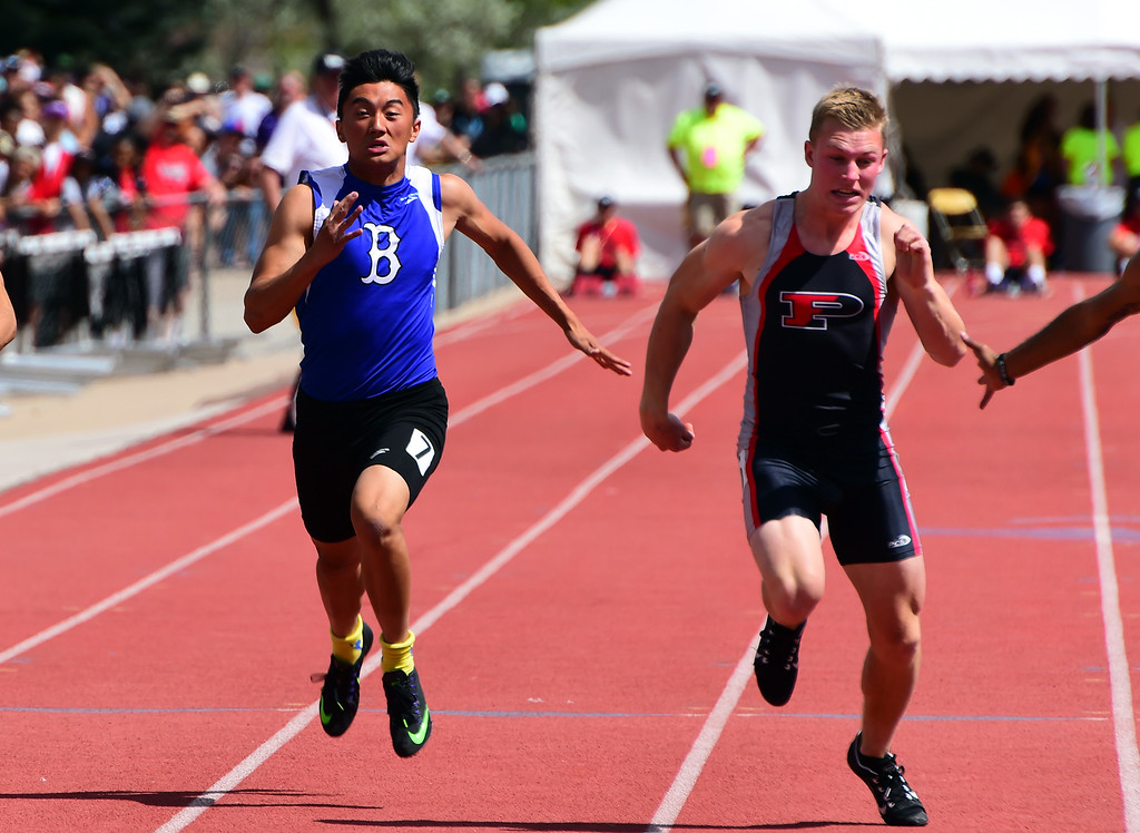 . Jordan Xiong, of Broomfield, competes in the 200 meters, during the Colorado State Track and Field Championships on Saturday at Jeffco Stadium. For more photos, go to www.bocopreps.com. Cliff Grassmick  Staff Photographer  May 21, 2016
