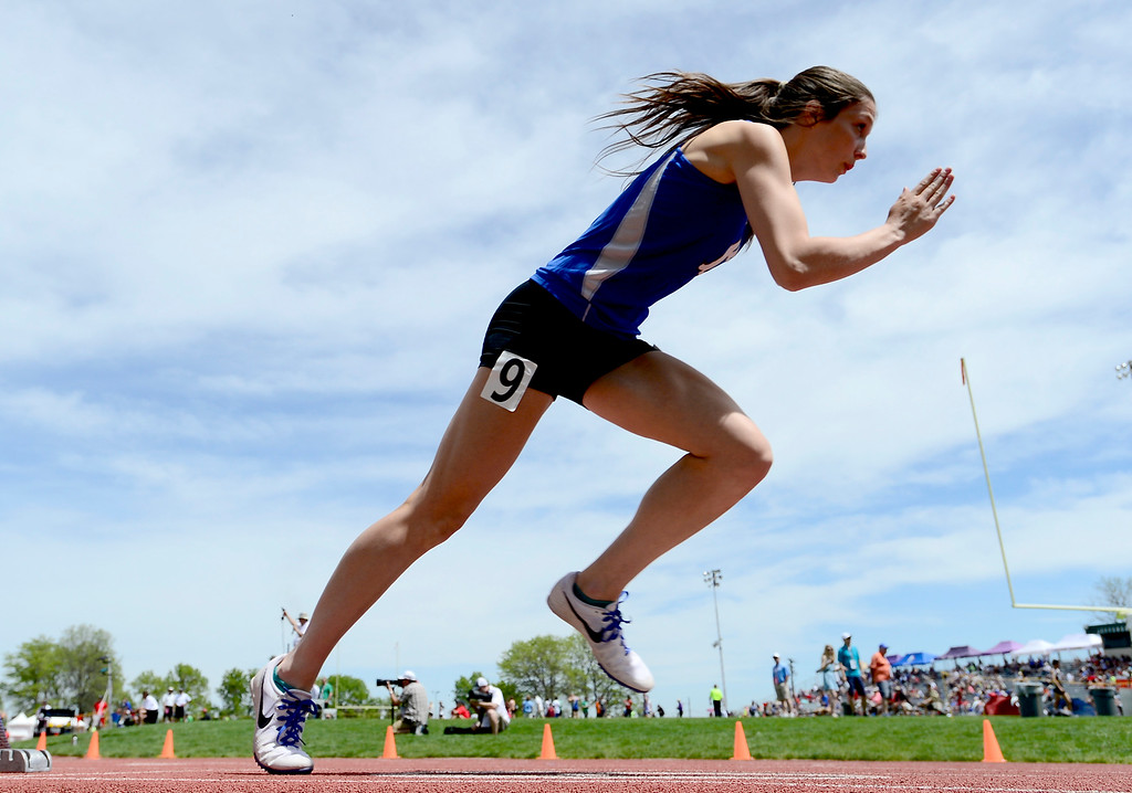 . Brenna Chase, of Broomfield, competes in the 400 meters during the Colorado State Track and Field Championships on Saturday at Jeffco Stadium. For more photos, go to www.bocopreps.com. Cliff Grassmick  Staff Photographer  May 21, 2016