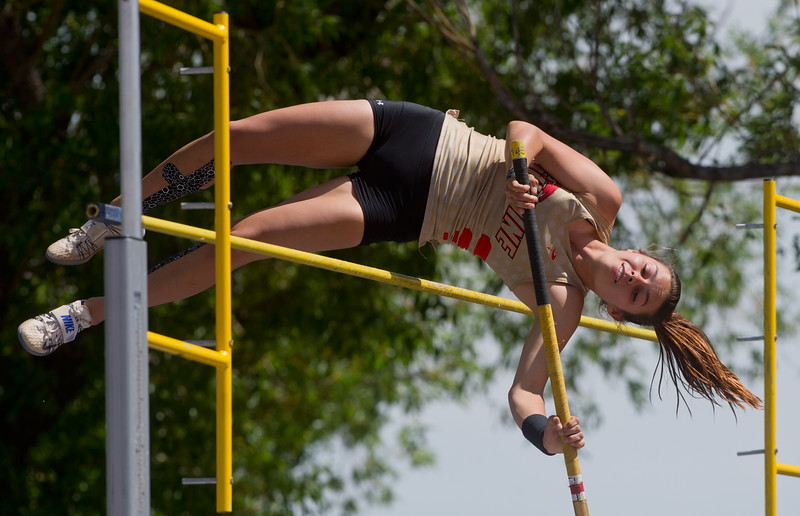"Skyline High School's Alex Hellenberg finished fourth place in the girls 4A pole vault during the Track and Field State Championships at Jefferson County Stadium in Lakewood on Saturday.<br /> More photos:  <a href=""http://www.BoCoPreps.com"">http://www.BoCoPreps.com</a><br /> Autumn Parry/Staff Photographer<br /> May 21, 2016"