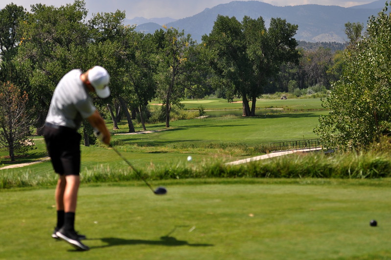 Sunday's final round of the 2017 Loveland City Championship on Sunday Aug. 20, 2017 at Marina Butte offered stunning views for the players. (Cris Tiller / Loveland Reporter-Herald)