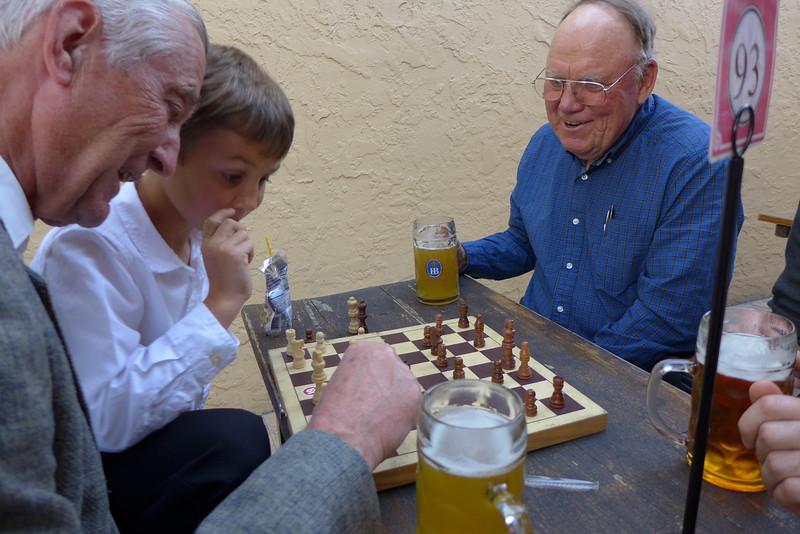 Opa/Matthew vs Grandpa/Chris - with drinks