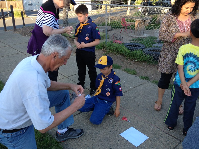 Opa goes to cub scouts