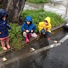 "3 Monkeys playing in the ""stream"" (Jia-Si, Yi-Ke, Matthew)"