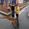 Puddle stomping after school