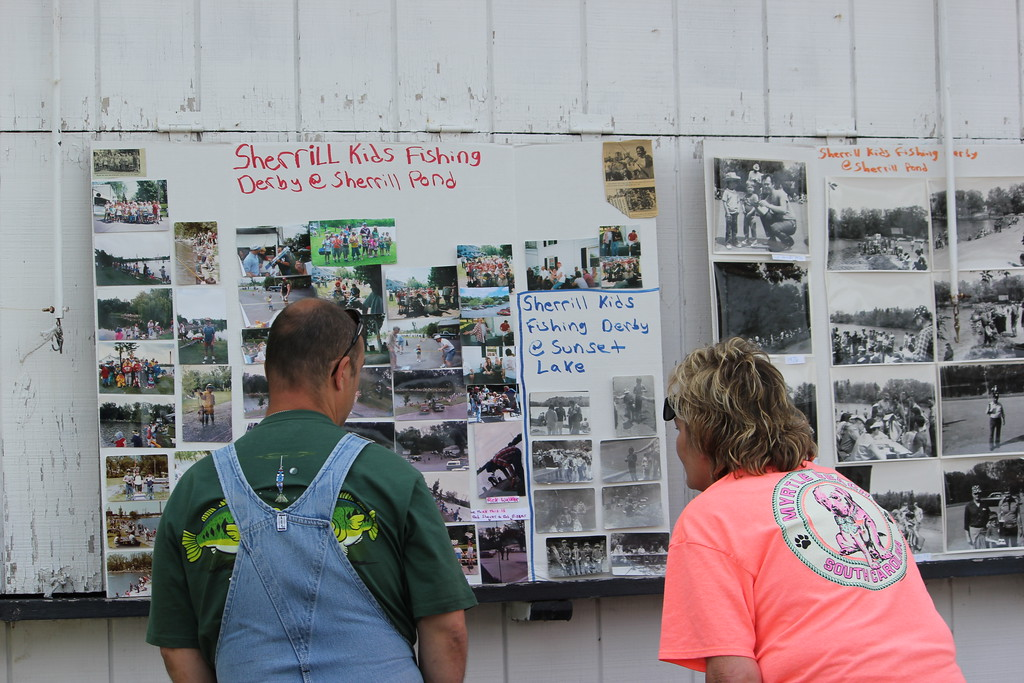 . Charles Pritchard - Oneida Daily Dispatch People view the previous anglers and winners over the years at the 68th Annual Sherrill Kids Fishing Derby on Saturday, June 9, 2018.