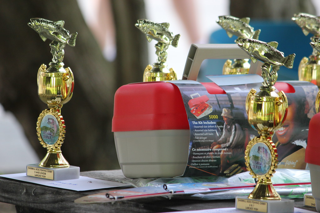 . Charles Pritchard - Oneida Daily Dispatch Trophies and prizes of all kinds are up for grabs at the 68th Annual Sherrill Kids Fishing Derby on Saturday, June 9, 2018.
