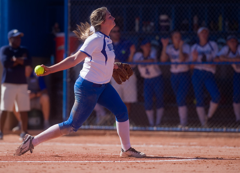 "Broomfield's Taylor Gilmore pitches to Legacy during the 5A region 1 softball tournament at Broomfield High School on Saturday.<br /> More photos:  <a href=""http://www.BoCoPreps.com"">http://www.BoCoPreps.com</a><br /> (Autumn Parry/Staff Photographer)<br /> October 15, 2016"
