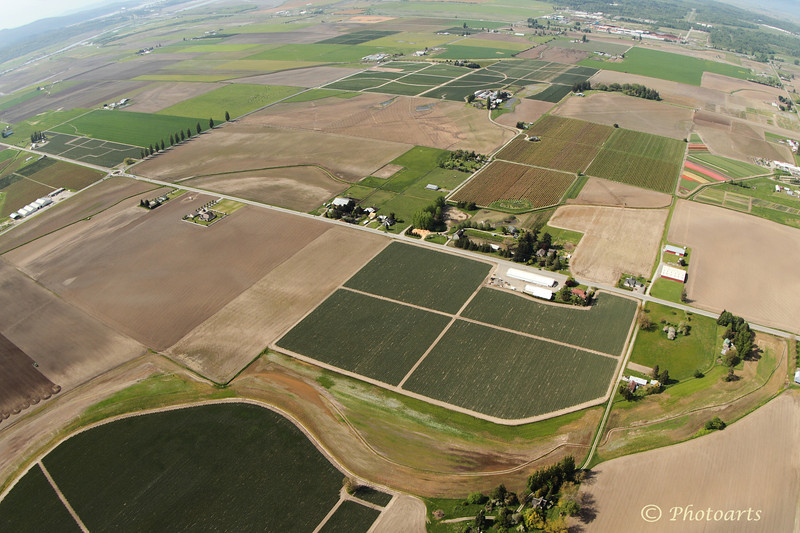 """Skagit Valley Aerial"" #53051231  © Payam Nashery - Photoarts"