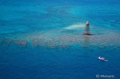 """Sand Key Lighthouse"" Off the coast of Key West, Florida. Lot of history behind this little Island. #52111125  © Payam Nashery - Photoarts"