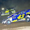 """Mod action Keith Flach #43 & Brett Hearn #20 at Albany-Saratoga Speedway, Friday, July 6. Photos courtesy Kustom Keepsakes - Mark Brown and Ryan Karabin. For reprints and more visit <a href=""""https://nepart.smugmug.com"""">https://nepart.smugmug.com</a>"""
