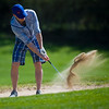 "Jon Bastone hits out of the sand during the annual CASA Classic Golf Tournament at Greg Mastriona Courses at  Hyland Hills in Westminister on Thursday. Proceeds raised will go towards CASA's mission of fighting against child abuse and neglect.<br /> More photos:  <a href=""http://www.dailycamera.com"">http://www.dailycamera.com</a><br /> Autumn Parry/Staff Photographer<br /> May 12, 2016"