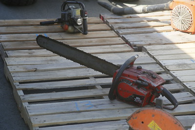 Several saws are among the city's items. (Shaun Walker -- The Times-Standard)