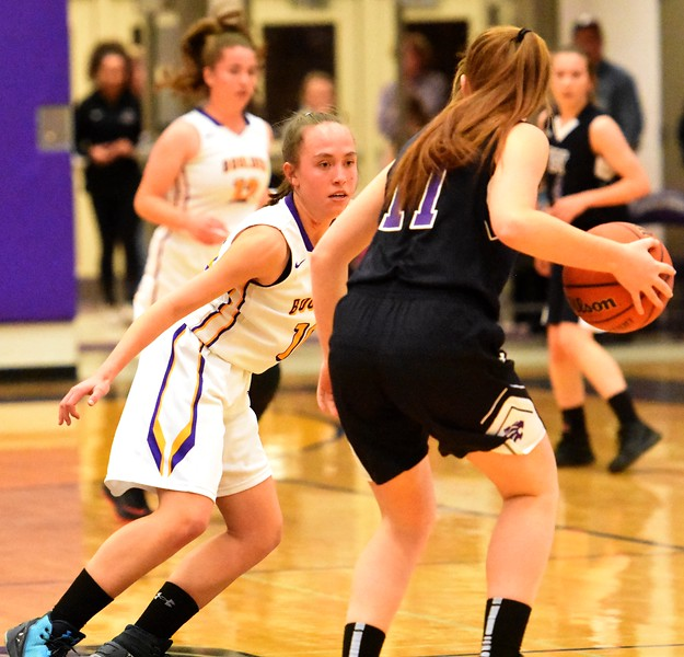 Boulder's Abbie Gillach defends during the Panthers' game against Arvada West on Monday, Dec. 17, at Boulder High.