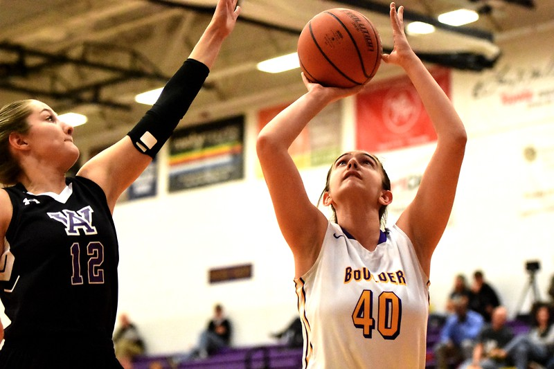 Boulder's Skye Reich shoots a layup during the Panthers' game against Arvada West on Monday, Dec. 17, at Boulder High.