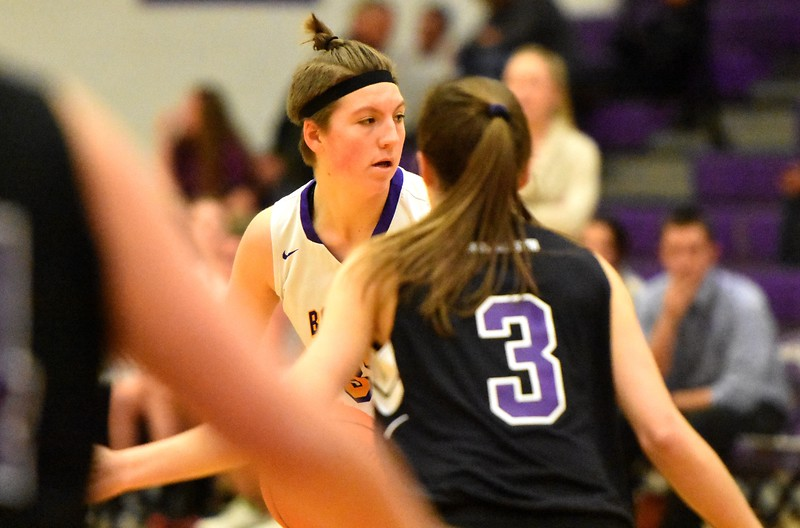 Boulder's Jessi Hunter looks for a teammate during the Panthers' game against Arvada West on Monday, Dec. 17, at Boulder High.