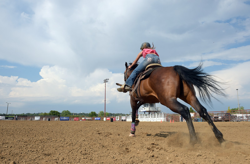 BARREL RACING AT BOULDER COUNT FAIR