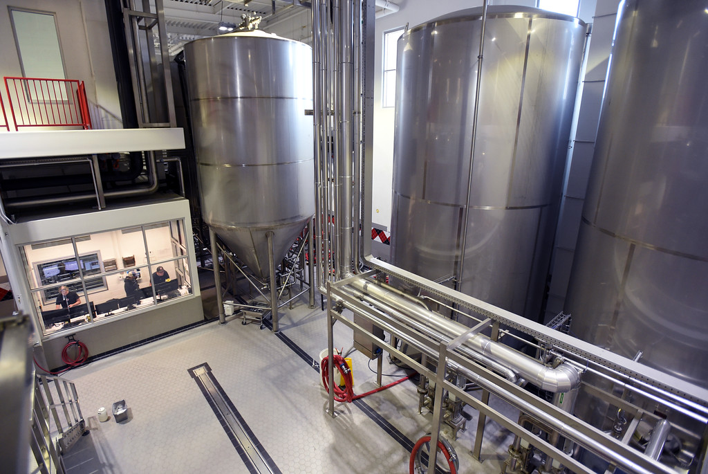 . The Avery Brewing main brewing floor and operations station. Beer Brewing activity at Avery Brewery in Boulder. Cliff Grassmick  Staff Photographer October 6, 2017