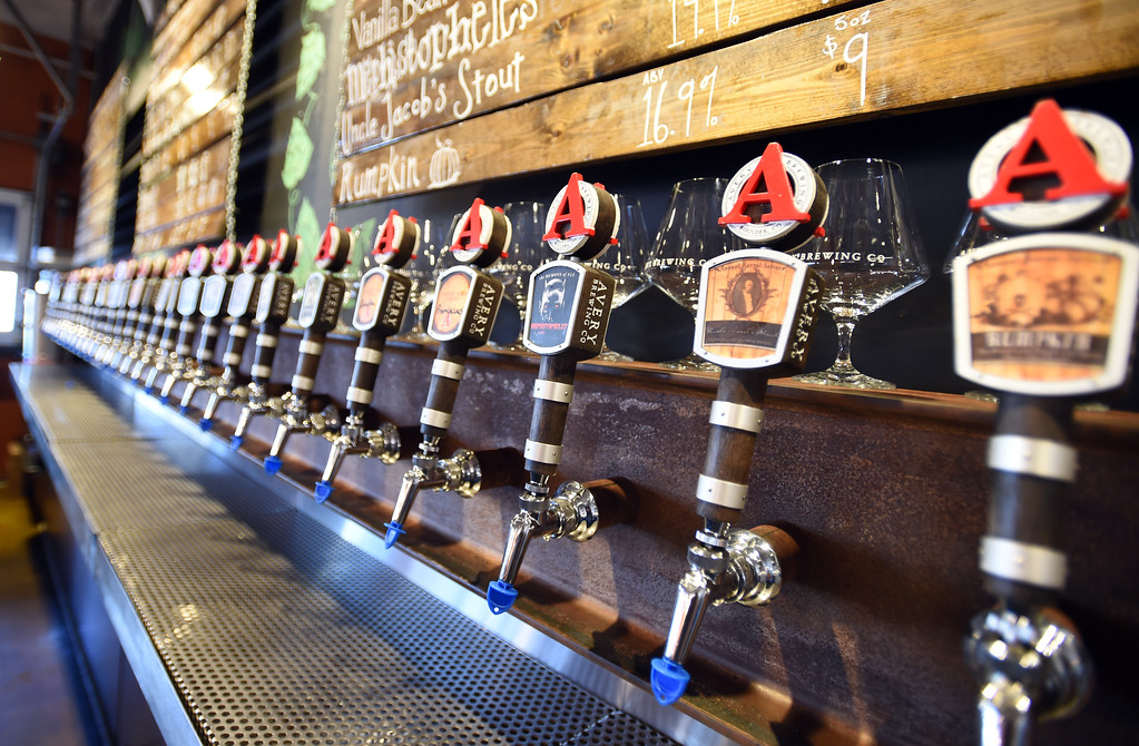 . Beers on tap  at Avery Brewery in Boulder. Cliff Grassmick  Staff Photographer October 6, 2017