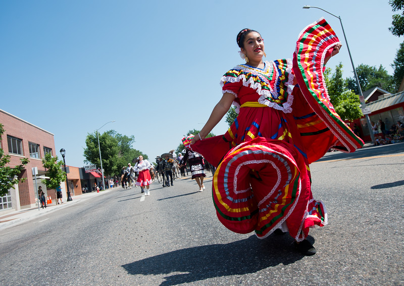"""Arleth Herrera walks with Margaritas, a Mexican family restaurant, during the Boulder County Fair Parade in Longmont on Saturday. <br /> More photos:  <a href=""""http://www.dailycamera.com"""">http://www.dailycamera.com</a><br /> (Autumn Parry/Staff Photographer)<br /> July 30, 2016"""