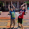 "Miles Anderson, 10, and Shay Johnson, 8, play in the water jets at the Pearl Street Mall in Boulder on Thursday.  <br /> More photos:  <a href=""http://www.dailycamera.com"">http://www.dailycamera.com</a><br /> (Autumn Parry/Staff Photographer)<br /> July 22, 2016"