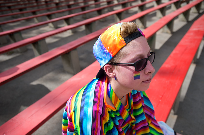 "Kelsi Dobran, listens to musical performances at the Central Park Bandshell during Pridefest in Boulder on Sunday. <br /> More photos:  <a href=""http://www.dailycamera.com"">http://www.dailycamera.com</a><br /> (Autumn Parry/Staff Photographer)<br /> September 11, 2016"