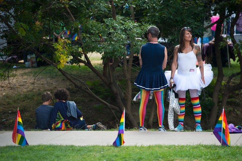 "Victoria Olson (right) and Dominique Olvera attend Pridefest at Central Park in Boulder on Sunday.<br /> More photos:  <a href=""http://www.dailycamera.com"">http://www.dailycamera.com</a><br /> (Autumn Parry/Staff Photographer)<br /> September 11, 2016"