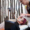 """Nadja Heath, an esthetician, gives Courtney Robinson a breast milk facial at Mud Facial Bar in Boulder on Thursday. <br /> More photos:  <a href=""""http://www.dailycamera.com"""">http://www.dailycamera.com</a><br /> (Autumn Parry/Staff Photographer)<br /> July 7, 2016"""