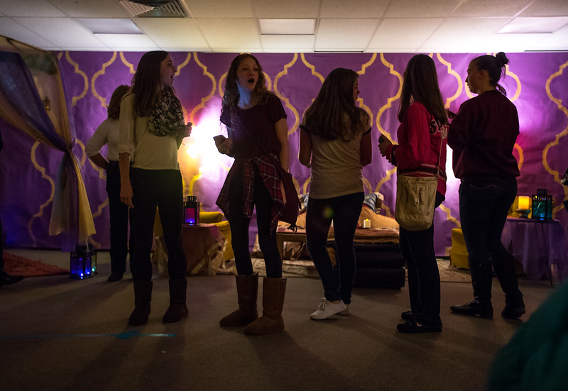 "Visitors pass through the Moroccan themed section of JAM at Broomfield High School on Saturday. <br /> More photos:  <a href=""http://www.dailycamera.com"">http://www.dailycamera.com</a><br /> Autumn Parry/Staff Photographer<br /> April 30, 2016"