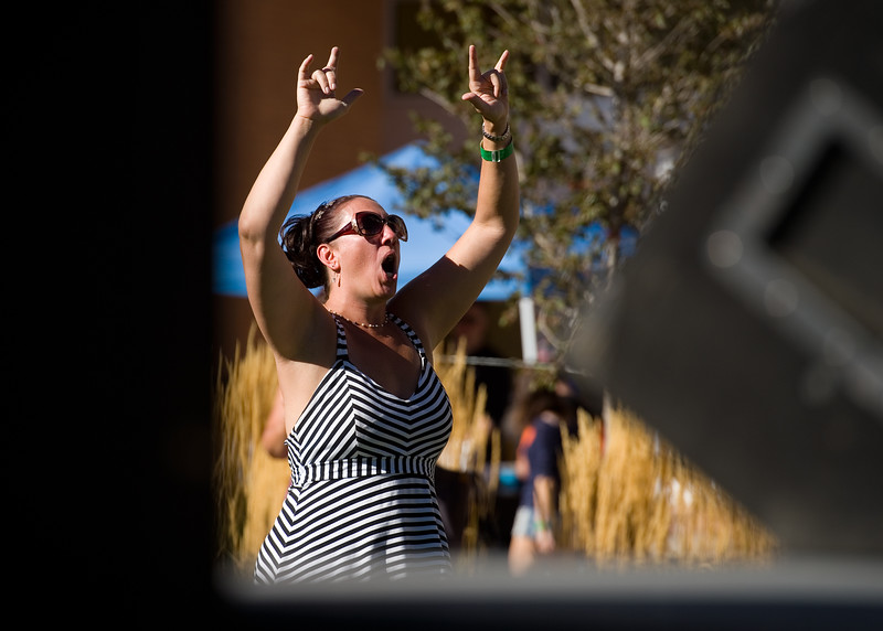 """Natasha Rosenberger dances to music by the Moses Jones Band during Brewhaha, a block party with local breweries, food trucks and live bands, in Broomfield on Saturday. <br /> More photos:  <a href=""""http://www.dailycamera.com"""">http://www.dailycamera.com</a><br /> (Autumn Parry/Staff Photographer)<br /> October 15, 2016"""