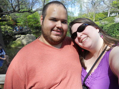 Chuck and I at the Japanese Garden