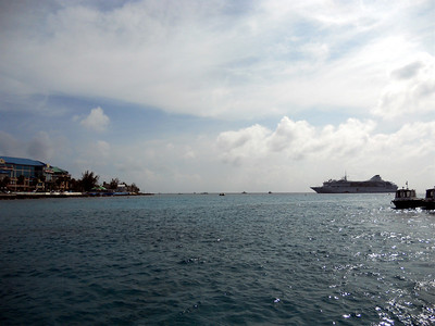 The Voyager off the coast of Cayman.