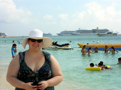 Look at all those cruise ships in the background!