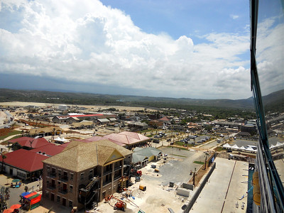 Falmouth, Jamaica. Royal Caribbean is paying to build a new port here. As you can see it isn't quite finished yet.