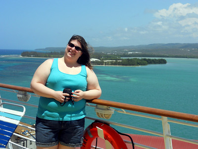 Myself on the Voyager of the Seas while docked in Jamaica.