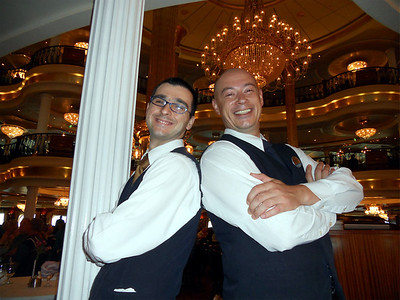 Mihai and George. Our Waiter and Assistant Waiter. They were super awesome!!!