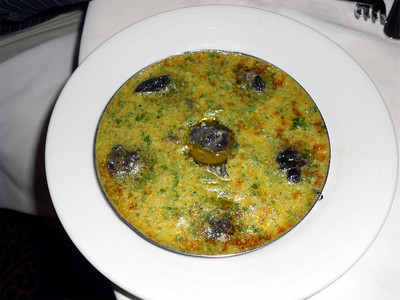 Escargot. It turned out to be very yummy!
