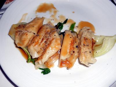 Shrimp potstickers.